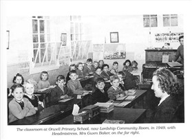 Photo:Classrooom at Orwell Primary School 1939 - 1941